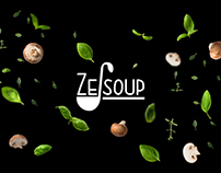 "Development of logo and packaging for soups ""Ze-soup"""