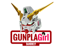 Gunpla Girl dandiely Logo Design / Vector Art