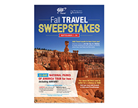 AAA Travel Fall Travel Sweepstakes flyer