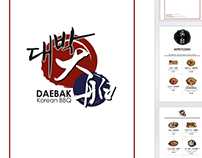 DAEBAK Korean BBQ freelance menu design