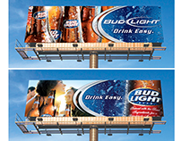 Bud Light Core Branding OOH + POS Designs