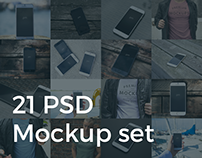 21 Mockups - iPhone 6 and T-shirt Mockups.