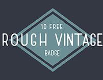 10 Free Download Rough Vintage Badge Vector