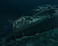 Titanic Wreck Painting