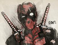 Deadpool - Watercolour