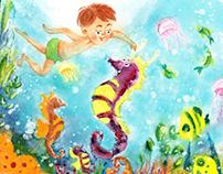 Illustrations for children's book of poems.