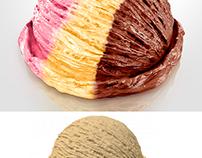 Sorvete Napolitano 3D. Modelagem e render no Modo.