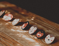 Wooden brooches II