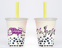 Bubble Tea Cup Design: Tempo Tea Bar