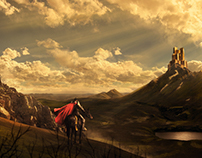 Matte painting. Fantasy scene project