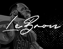 LeBron James: Editorial Illustration