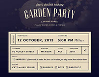 Garden Party RSVP microsite