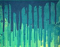 6 Grunge Color Splatter Graffiti Wall Background
