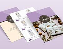 Amelie Chocolaterie / e - Catalog Design