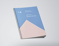 A4 Notebook Mockup PSD