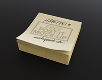 FREE POST-IT MOCK-UP