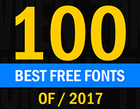 100+ Free Fonts of 2017