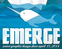 Emerge Senior Show Poster Entry