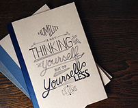 Lettering   March - Sept. 2014