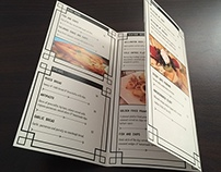 Anchors Seafood Menu Brochure
