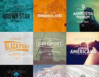 90 Logo Templates Graphic Brand Bundle | Download