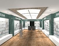 Proyecto interior farmacia Llagostera (opción 01)