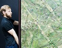 Ландшафтный макет Колганского нефтяного месторождения