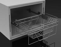 Soporte para vajilla dentro y fuera del lavaplatos