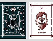 Homeland Playing Card Illustrations