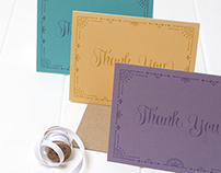 Delicate Deco Thank You Card