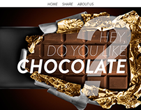 HEY do you like CHOCOLATE? | web design project.