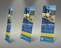 Construction Business Signage Rollup Template Vol2