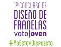 1er concurso de diseño de franelas | Voto Joven