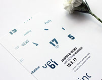 Typographic Wedding Invitation