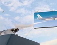 KLM-Flying billboard
