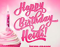 Happy Birthday Heidi – the Heidi and Frank show