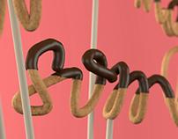 Chocolate-coated Typography