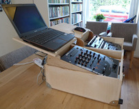 Mobile DJ setup Flightcase