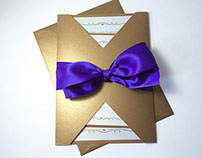 Royal Gold and Purple Invitation