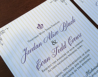 French Inspired Wedding Invitation