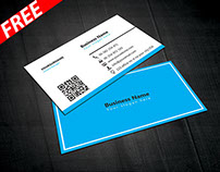 Blue & White Business Card Template (FREE)