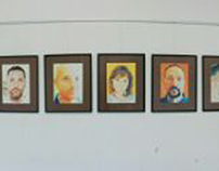 A panoramic view of my portraits' exhibition