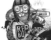 Illustration for Red Bull Doodle Art