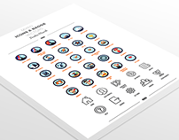 Freebie - 140 Mix Badges and Icons