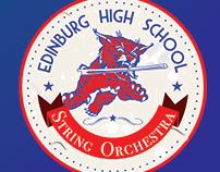Edinburg HS Bobcats Orchestra Logo 1980's