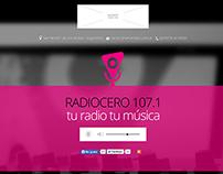 FM single page website