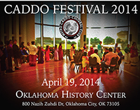 Flyer for Caddo Festival at Oklahoma History Center