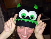 Fleece monster hats