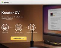 Resume generator landing page