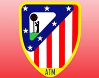 Propuesta de rediseño del escudo del Atlético de Madrid